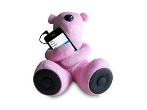 Sungale S-T1 Portable Teddy Speaker For iPod, iPhone, Smartphone, MP3, Media Player - Pink