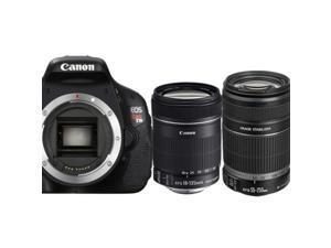 Canon EOS Rebel T3i 600D SLR Camera Body + EF-S 18-135mm IS + EF-S 55-250mm Lens