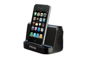 iHome iHM16 Portable Stereo Speaker System for iPad iPod Touch & MP3 Player - Black