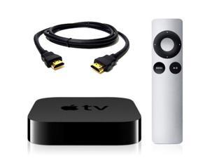 Apple TV 1080p HD programming, including iTunes movies and TV shows, Netflix, Vimeo, photos and more in HD MD199LL/A + HDMI and Remote Control