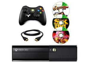 Microsoft Xbox 360 Black 4GB Gaming Console + Wireless Controller + HDMI Cable + 3 Free Games