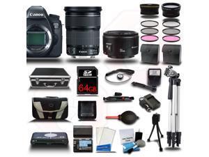 Canon EOS  6D DSLR Camera + 24-105mm IS STM Lens + 64GB + 16 PCS Starter Bundle Kit - NEW