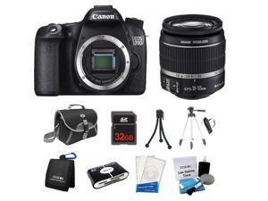 Canon EOS 70D Camera Body + 18-135mm STM Lens + 32GB +Case Bag +Tripod & More