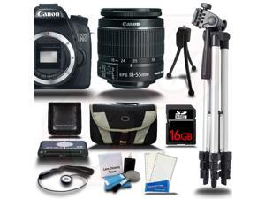 Canon EOS 70D Camera Body + 18-55mm STM Lens + 16GB +Case Bag +Tripod & More USA