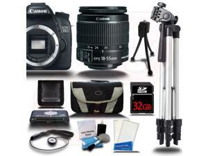Canon EOS 70D Camera Body + 18-55mm STM Lens + 32GB +Case Bag +Tripod & More USA