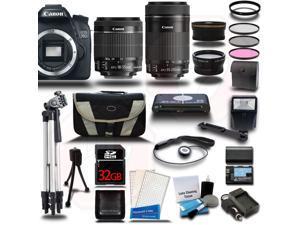 Canon EOS 70D DSLR Camera w/ 18-55mm + 55-250mm STM 4 Lens Pro Bundle Kit + 32GB
