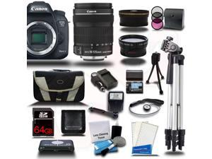Canon EOS 7D Mark II DSLR Camera with EF-S 18-135mm IS STM 3 Lens Bundle Kit + 64GB + Reader + Extra Battery & Charger + Case + Filters + Adapters + More