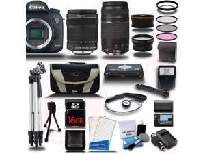 Canon EOS 7D Mark II DSLR Camera with EF-S 18-135mm IS STM + 75-300mm Telephoto Zoom 4 Lens Bundle Kit + 16GB + Reader + Extra Battery & Charger + Case + Filters + Adapters + 2 Tripods + More