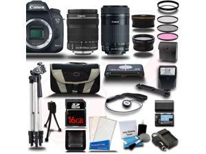 Canon EOS 7D Mark II DSLR Camera with EF-S 18-135mm IS STM + 55-250mm IS STM 4 Lens Bundle Kit + 16GB + Reader + Extra Battery & Charger + Case + Filters + Adapters + 2 Tripods + More