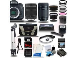 Canon EOS 7D Mark II DSLR Camera with EF-S 18-135mm IS STM + 55-250mm IS STM 4 Lens Bundle Kit + 64GB + Reader + Extra Battery & Charger + Case + Filters + Adapters + 2 Tripods + More