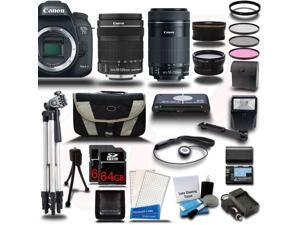 Canon EOS 7D Mark II DSLR Camera with EF-S 18-135mm IS STM + 55-250mm IS STM 4 Lens Bundle Kit + 128GB + Reader + Extra Battery & Charger + Case + Filters + Adapters + 2 Tripods + More