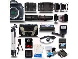 Canon EOS 7D Mark II DSLR Camera with 18-135mm + 75-300 + 500mm 5 Lens Pro Camera Bundle Kit + 64GB