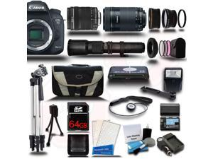 Canon EOS 7D Mark II DSLR Camera with 18-135mm + 55-250mm STM + 500mm 5 Lens Kit + 64GB