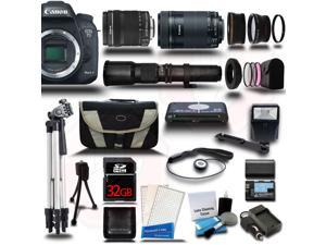 Canon EOS 7D Mark II DSLR Camera with 18-135mm + 55-250mm STM + 500mm 5 Lens Kit + 32GB
