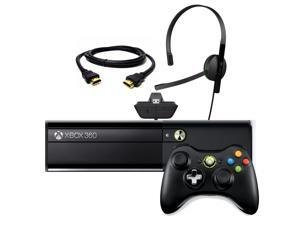 Microsoft Xbox 360 Black 4GB Gaming Console w/ Wireless Controller + HDMI + Head Set - Kinect Not Included