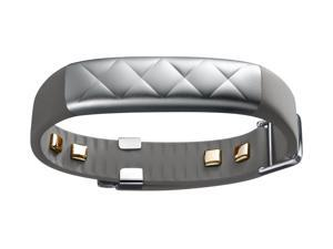 UP4 by Jawbone Heart Rate Activity Sleep Tracker Silver Cross Gray