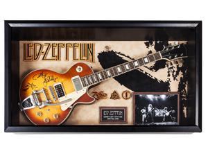 Led Zeppelin - Autographed Guitar Signed in Framed Case