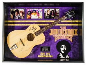 Jimi Hendrix - Autographed Guitar Signed in Framed Case