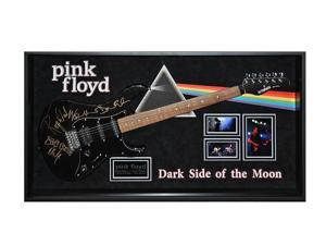 Pink Floyd Signed Guitar - Dark Side of the Moon - Wood Framed with COA