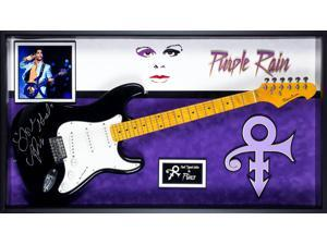 Prince Purple Rain - Autographed Electric Guitar Signed in Framed Case