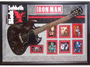 Black Sabbath Signed Guitar with Dio - Iron Man - Framed Autographed COA