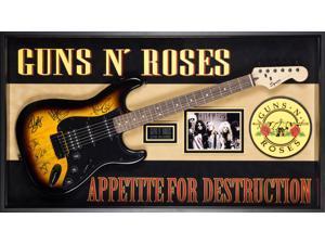 Guns n' Roses Signed Guitar Appetite for Destruction in Wood Framed Case