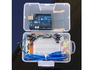 Arduino Starter Funduino Basic Kit Uno R3 + LED Lighting + Breadboard + Resistor