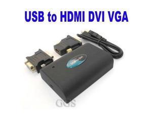 External PC Laptop USB graphics card UGA USB 2.0 to DVI VGA HDMI adapter 1080P