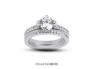 1.18 CT G-I1 EX Round Earth Mined Diamonds Platinum 950 Prongs Vintage with Milgrain Matching Engagement Rings 9.60gr