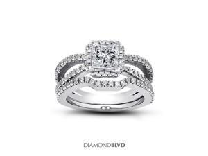 1.76ct D-SI3 Ideal Princess Natural Diamonds 950Plt V-Prong Split Shank with Gallery Matching Engagement Rings 10.94gr