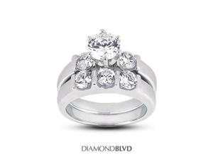 1.40 CT F-VS2 VG Round Earth Mined Diamonds Platinum 950 6-Prong Classic Matching 3-Stone Rings 15.94grams