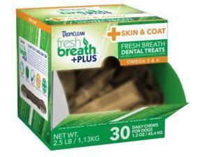 Fresh Breath Plus Treats Skin & Coat Cube,  Color: Green, Size: 2.5 pounds