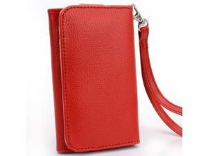 Kroo Red Clutch Wristlet Wallet for Smartphone up to 4 Inch