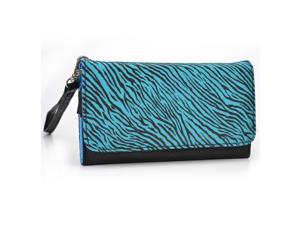 Kroo Black and Zebra Wristlet Wallet With Pouch for Smartphone up to 4 Inch