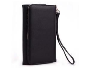 Kroo Black Clutch Wristlet Wallet Purse with Card slots for Samsung Galaxy Note I717 N7000 T879 LTE CDMA