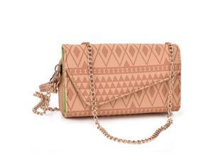Kroo Tan Clutch Wallet for Smartphone / Phablet Up To 5.7 inches