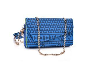Kroo Dark Blue Clutch Wallet for Smartphone / Phablet Up To 5.7 inches
