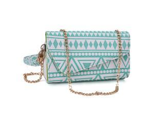Kroo Teal Clutch Wallet for Smartphone / Phablet Up To 5.7 inches
