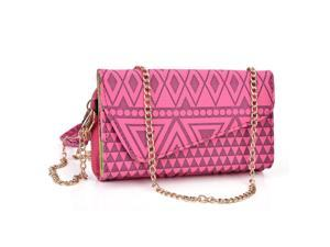 Kroo Magenta Clutch Wallet for Smartphone / Phablet Up To 5.7 inches