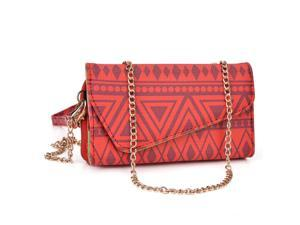Kroo Red Clutch Wallet for Smartphone / Phablet Up To 5.7 inches