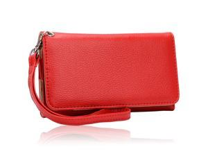 Universal Red Clutch Wristlet Wallet for Samsung Galaxy Victory 4G L300
