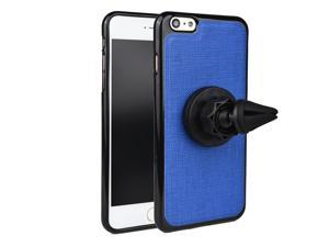 KroO 360 Rotating Magnetic Mount Case with Car AC Vent for Apple iPhone 6 Plus 6S Plus | Blue
