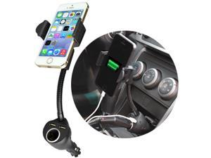 Adjustable Smartphone Mount USB Charger
