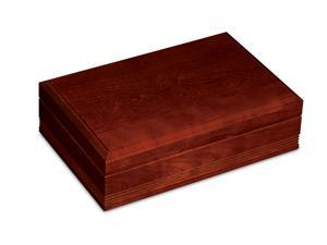 American Chest Delaware Cigar Humidor, Solid American Cherry Hardwood With Red Cherry Finish & Spanish Cedar Linings.  Made in USA.