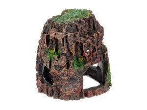 Five Star Inc Vivarium Hollow Rockery Hiding Cave Aquarium Ornament Decor
