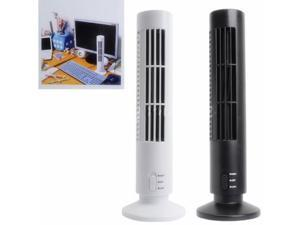 Portable USB Mini Bladeless No Leaf Air Conditioner Cooling Cool Desk Tower Fan