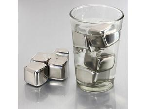 1pcs Stainless Steel Ice Cubes Glacier Rocks Neat Drink Whiskey Stones