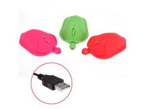 Red Green Cute Turtle 3D USB Wired Optical Mouse Mice 1000dpi For Laptop Macbook