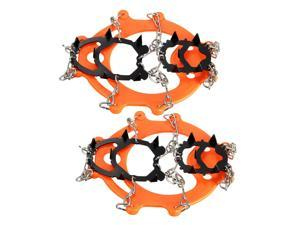 12 Teeth Ice Boots Shoe Crampons Spike Cleats Gripper Climbing Outdoor Gear Pair
