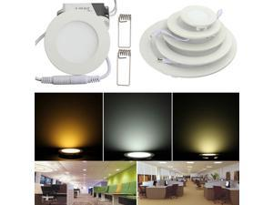 15W Round Ceiling Ultrathin Panel LED Lamp LED Recessed Ceiling Panel Downlight Light 85-265V With LED Driver